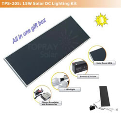 15W Solar Lighting Kit